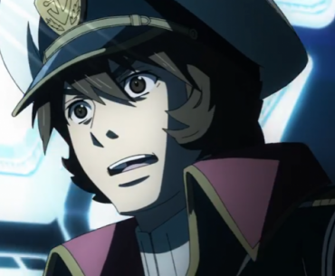 Imagen tomada de la serie Uchuu Senkan Yamato con el protagonista en un primer plano con expresión de sorpresa.
