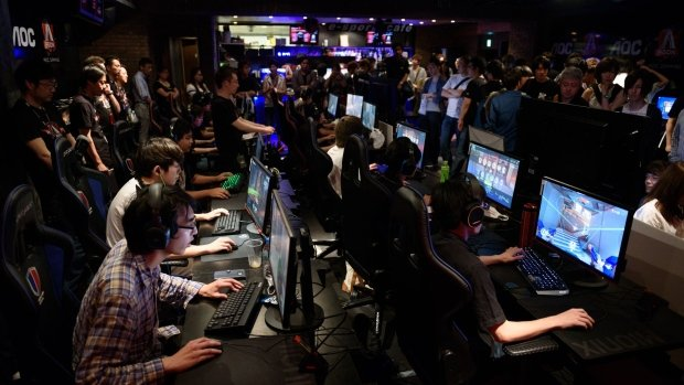Jugadores chinos compitiendo.