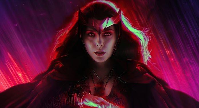 Scarlet Witch en una imagen promocional para WandaVision