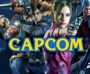 Logotipo y juegos de Capcom..