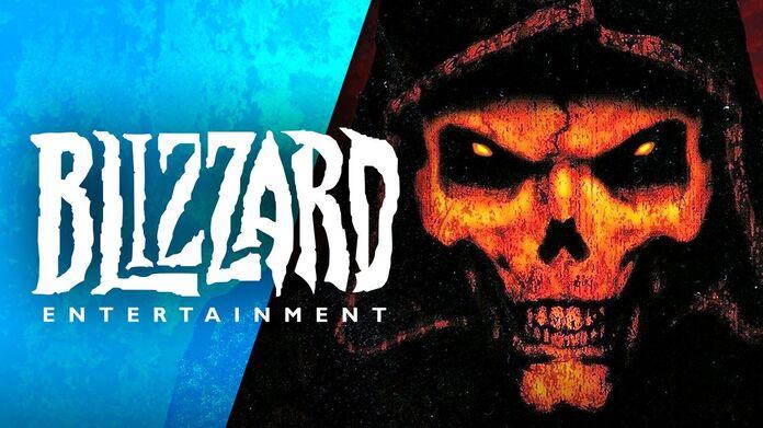 Logo de Blizzard y Portada de Diablo II,