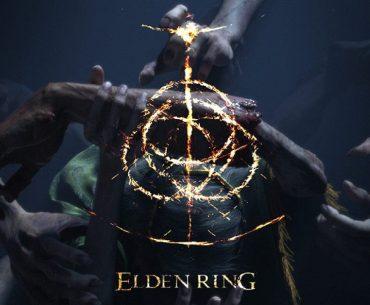 Logotipo e imagen promocional de Elden Ring.