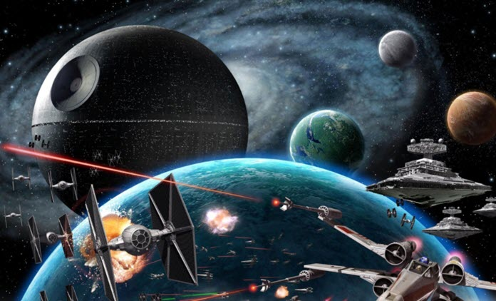 Batalla espacial dentro de Star Wars: Empire at War