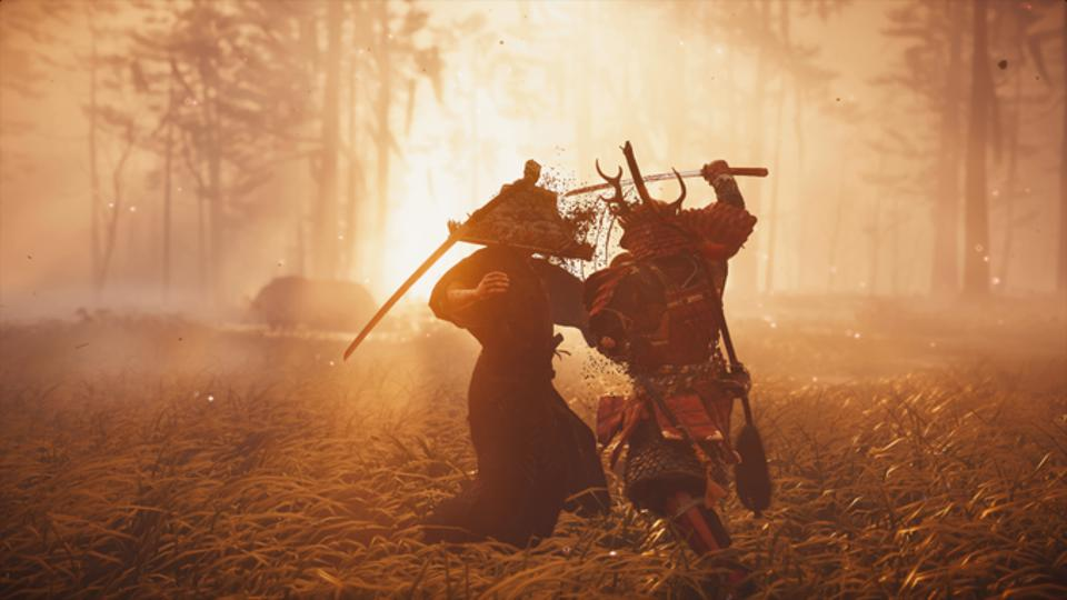 Combate en Ghost of Tsushima.