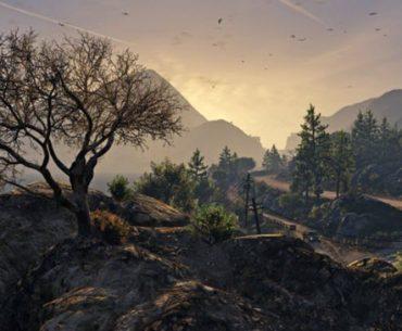 Un paisaje montañoso en GTA
