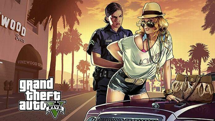 Arte promocional de GTA V.