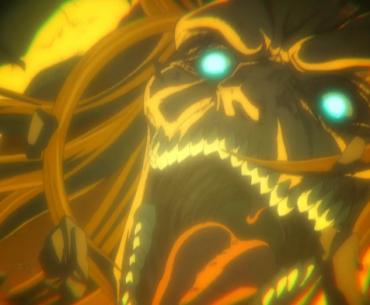 Imagen tomada de 'Shingeki no Kyojin The Final Season' con eren transformado en Titan y gritando de forma amrnzante.