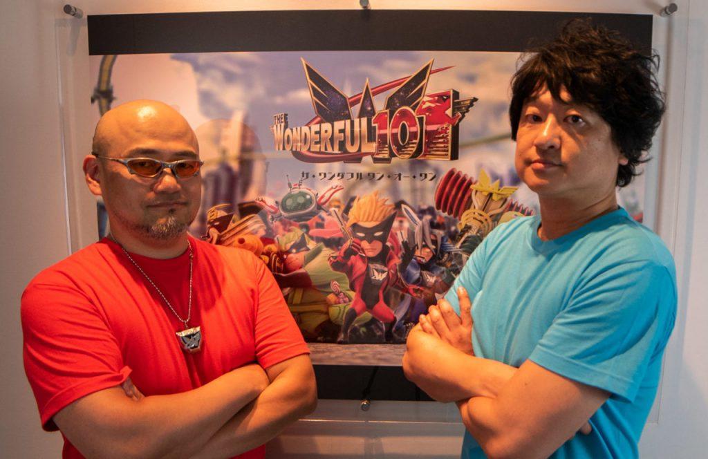 Hideki Kamiya y Atsushi Inaba.