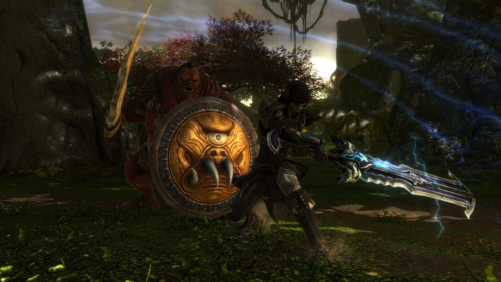 Combate de Kingdoms of Amalur: Re-Reckoning.