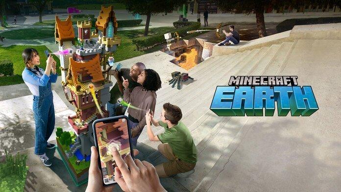 Imagen promocional de MInecraft Earth.