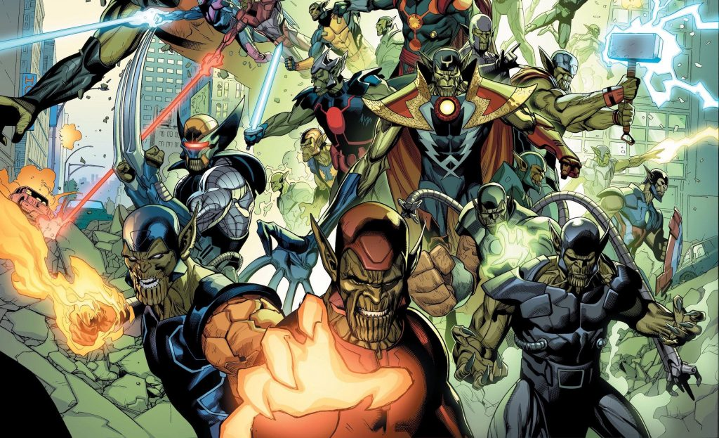 Imagen promocional de Secret Invasion de Marvel Comics