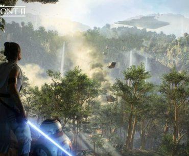 Arte conceptual de Rey en Star Wars: Battlefront II.