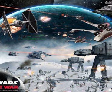 Una batalla espacial en Star Wars: Empire at War