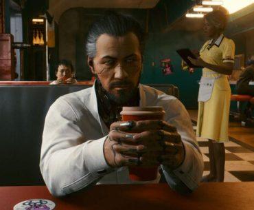 Reunión con Takemura de Cyberpunk 2077.