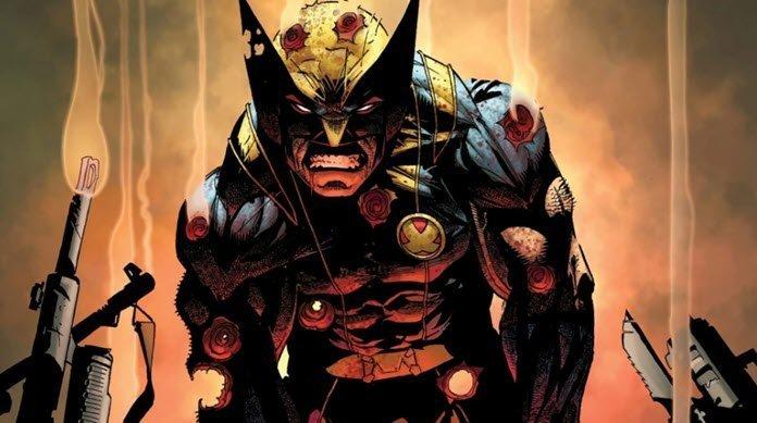 Wolverine rodeado de armas de fuego