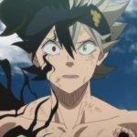 Imagen tomada del anime 'Black Clover' con el protagonista en un primer plano con cara de preocupación.