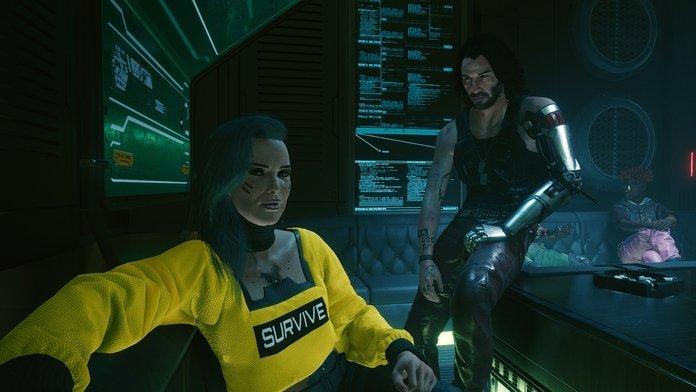 Silverhand y Rogue de Cyberpunk 2077.