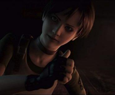 Rebecca Chambers, en su atuendo de Resident Evil Revelations dando un pulgar arriba