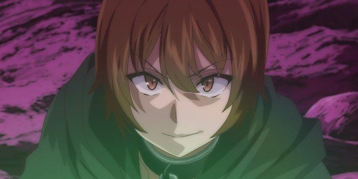 Imagen tomada del anime 'Kaifuku Jutsushi no Yarinaoshi' con un primer plano del protagonista con cara de complacido.
