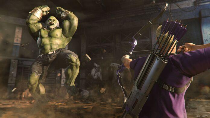 Hawkeye contra Maestro, el enemigo del juego.