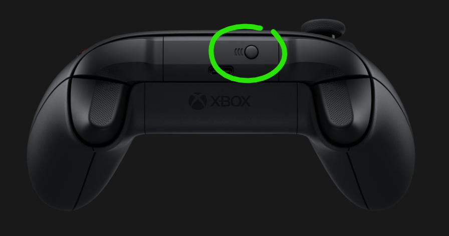 Botón de sincronización de Xbox.