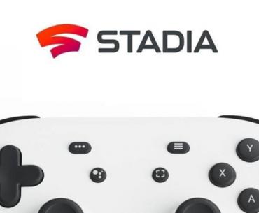 Control y logo de Stadia.