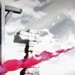 Imagen tomada del opening 'My War' de 'Shingeki no Kyojin The Final Season' con un soldado apuntando un lanzallamas a una horca y una pared de ladrillos destruida en blanco y negro.