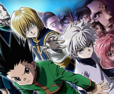 Imagen promocional de 'Hunter x Hunter' con todos los protagonistas en posición de batalla.