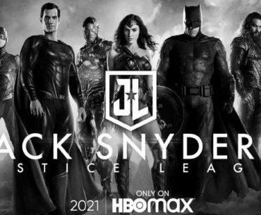 Poster de la snyder cut con toda la justice league en blanco y negro