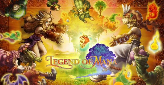 Arte de portada de Legends of Mana Remaster.