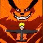 Imagen tomada del anime de 'Naruto' con Naruto abrir el las puertas para dejar salir a Kurama.