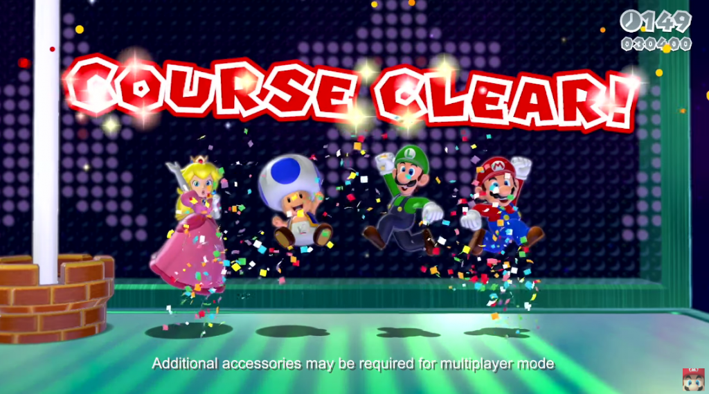 Cooperativo de Super Mario 3D World.