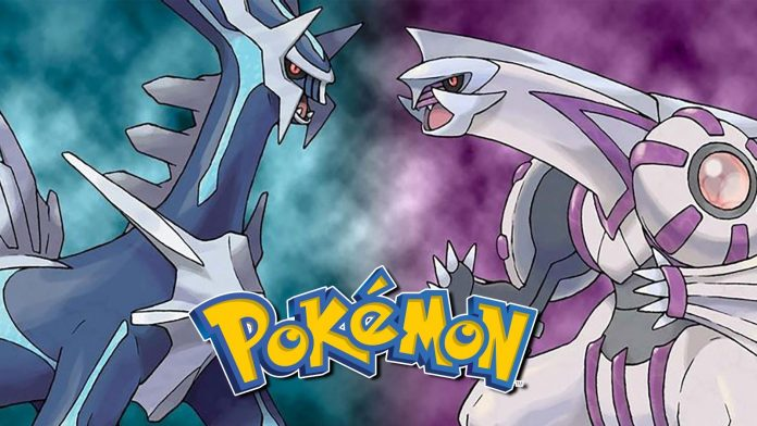 Portada de Pokémon Pearl y Diamond con sus legendarios frente a frente