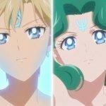 Imagen tomada del tráiler de 'Bishoujo Senshi Sailor Moon Eternal Movie' con las Sailor Guardianas del Exterior en un primer plano.