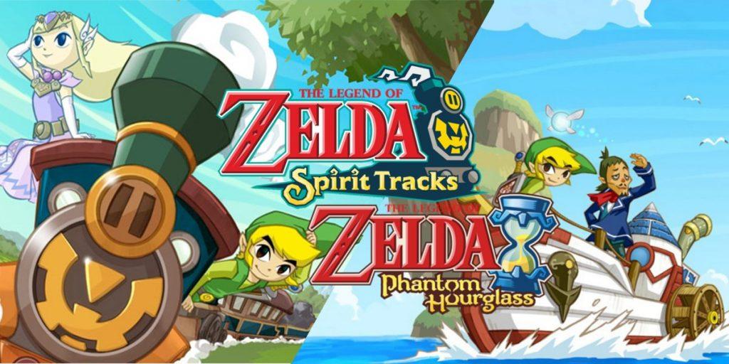 Zelda Spirit Tracks y Phantom Hourglass.