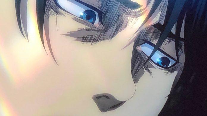 Imagen tomada del anime 'Shingeki no Kyojin The Final Season' con un primer plano de uno de los protagonistas.