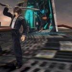 Squall, Zell y Selphie de Final Fantasy VIII Remastered celebrando una victoria