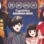 Imagen promocional de la séptima entrega de los Trending Anime Awards con los personajes de Akudama Drive con premios.