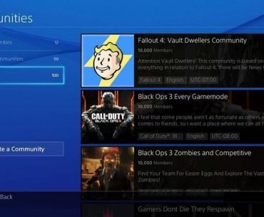 PlayStation Communities.