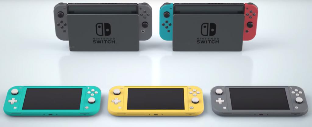 Familia de Nintendo Switch.