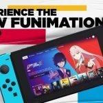 Imagen promocional de la aplicación de Fiunimation en Nintendo Switch, con la serie Darling in the Franxx en la portada
