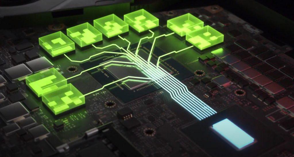 Circuitos internos de gráfica Nvidia.