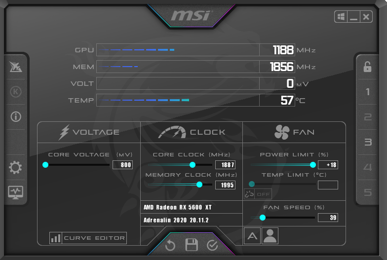 MSI Afterburner.