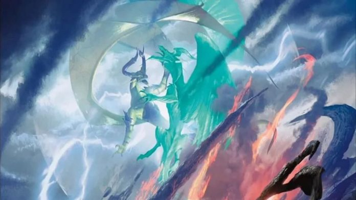 Imagen de la carta Crux of Fate de Magic: The Gathering, presuntamente plagiada por el artista Jason Felix