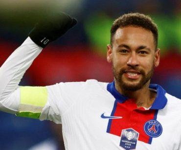 Imagen de Neymar Jr. celebrando un gol con el PSG