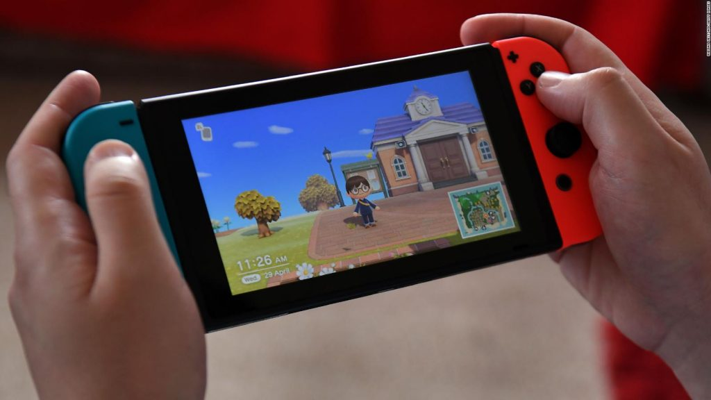 Switch con Animal Crossing.