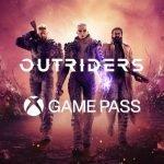 Logo de Xbox Game Pass con Outriders.