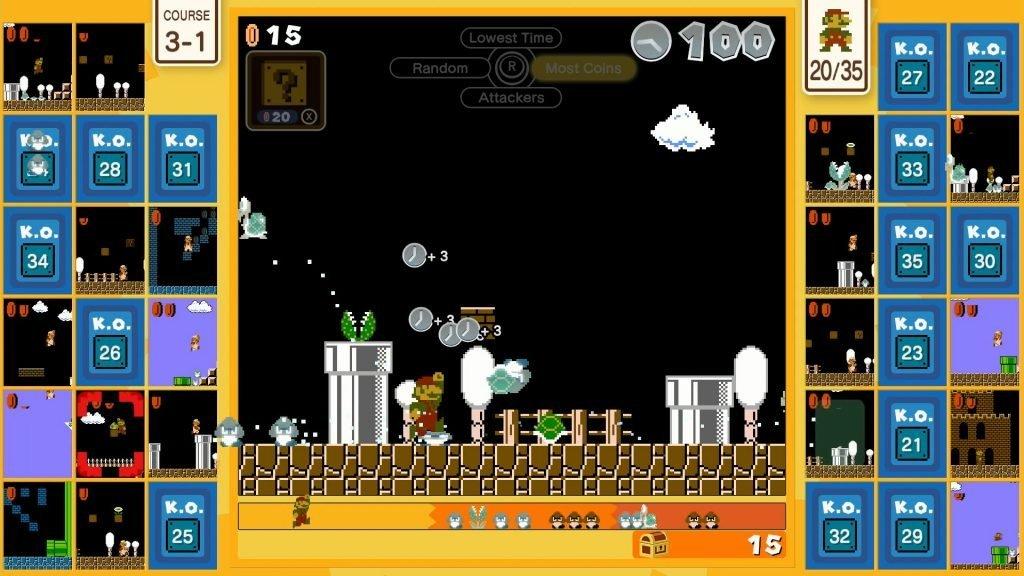 Jugabilidad de Super Mario Bros. 35.