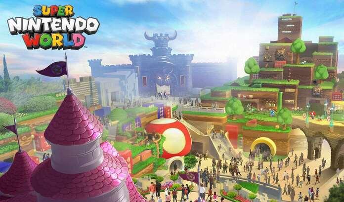 Concepto de Super Nintendo World.