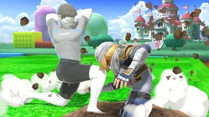 Wii Fit Trainer y Sheik.